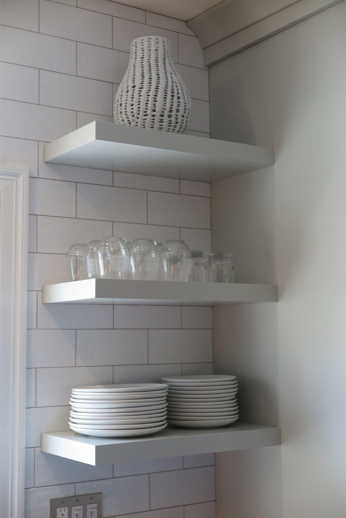 Walnut Hill kitchen corner shelf